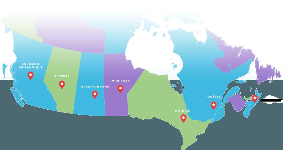 Provincial Associations Map
